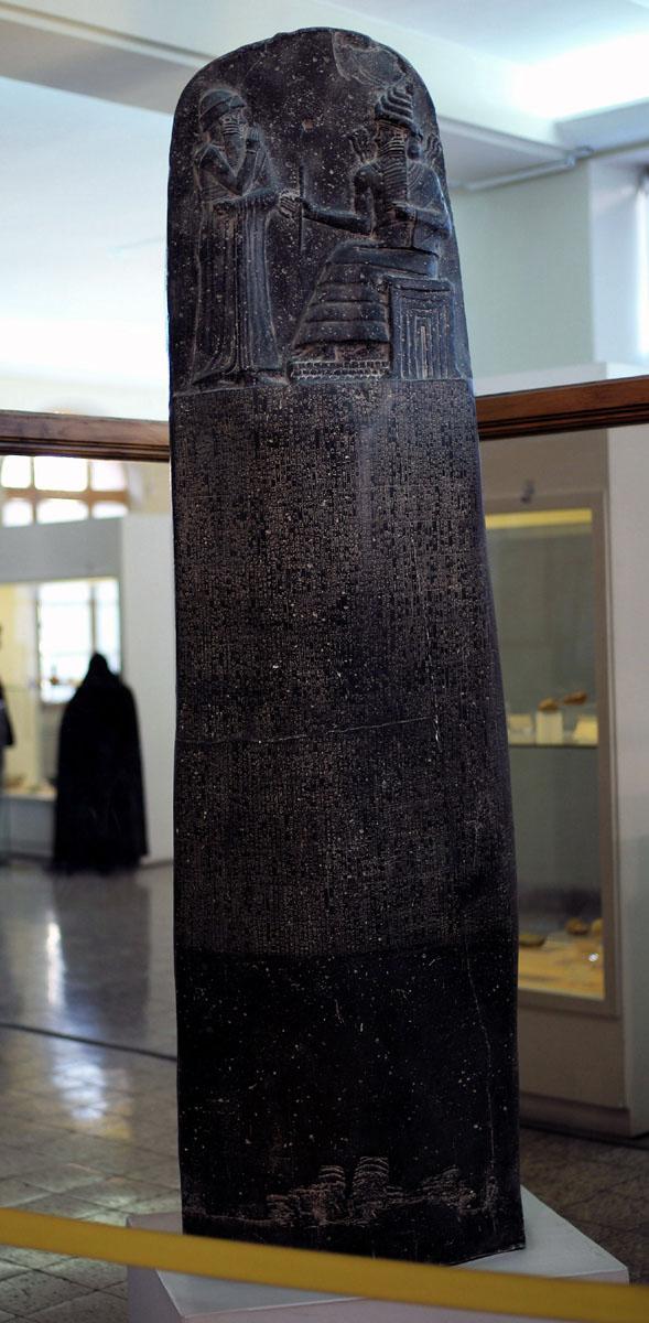 El Código de Hammurabi está manufacturado en diorita