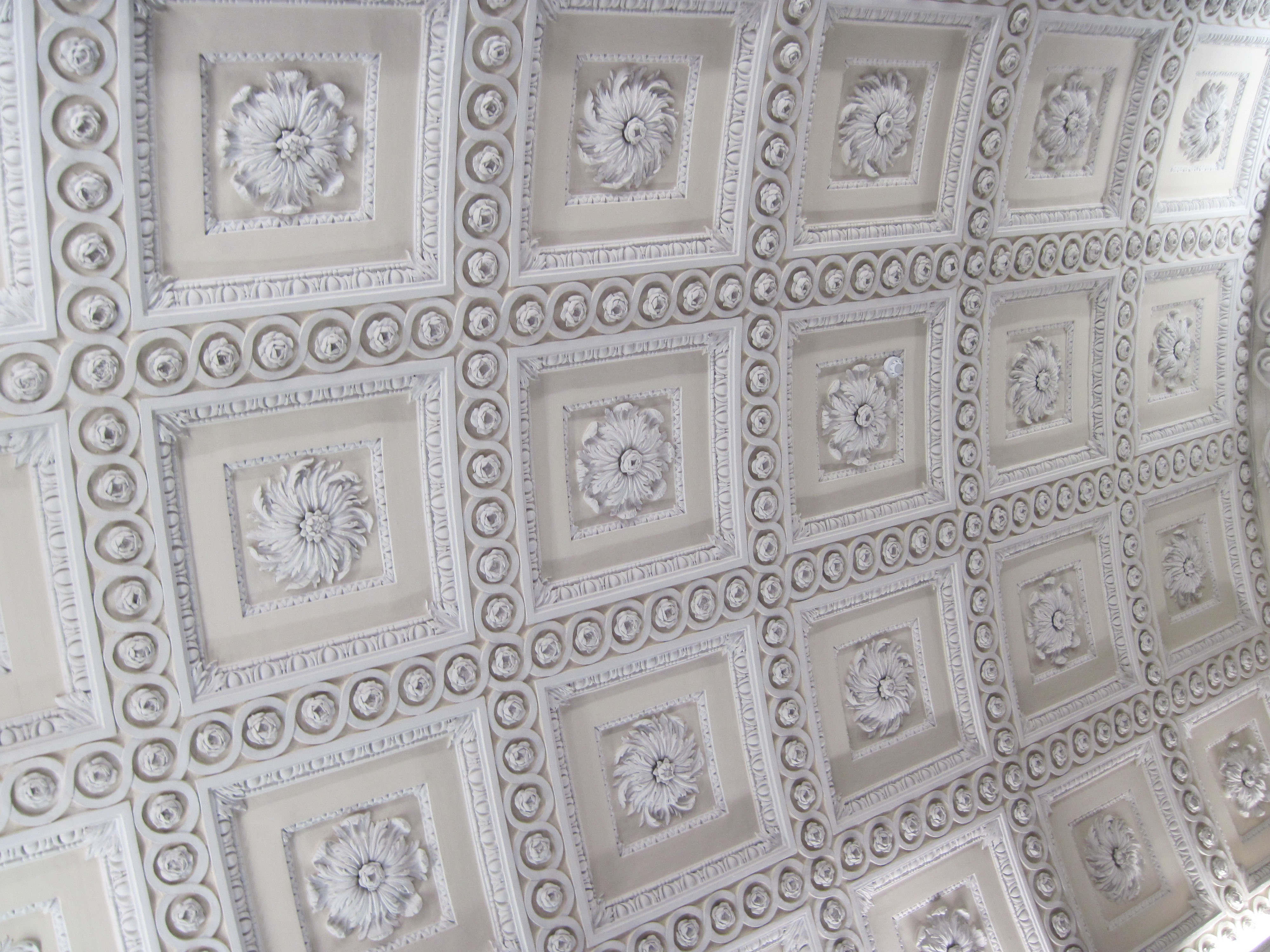 FileCoffered Plaster Ceiling At Russborough
