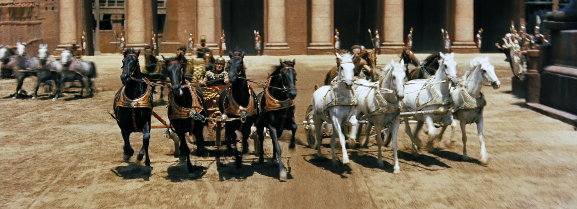 Chariot Racing from the Ben Hur Film