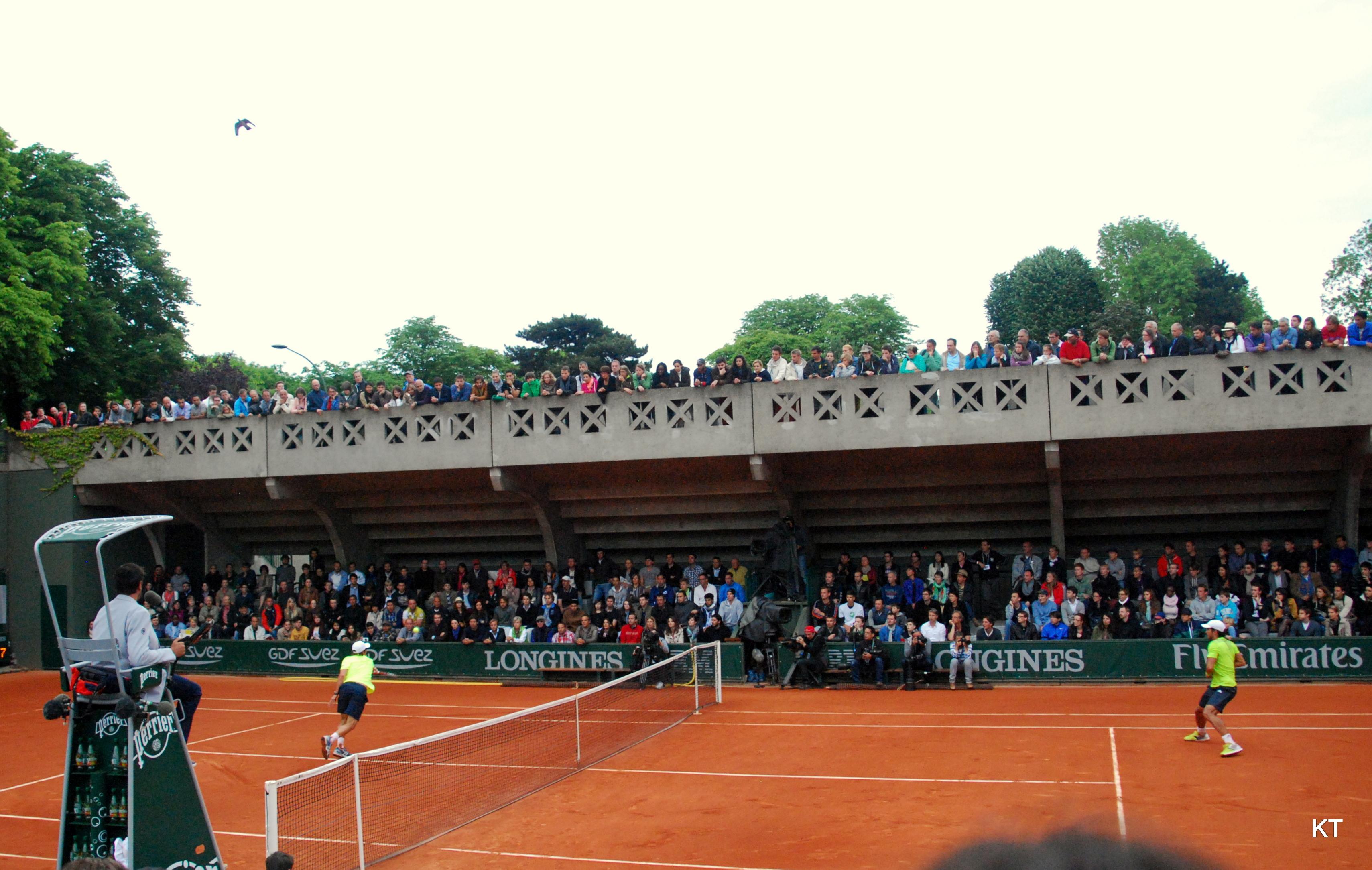 File:Cuevas v Verdasco, Court 2, Roland Garros 2014 ...