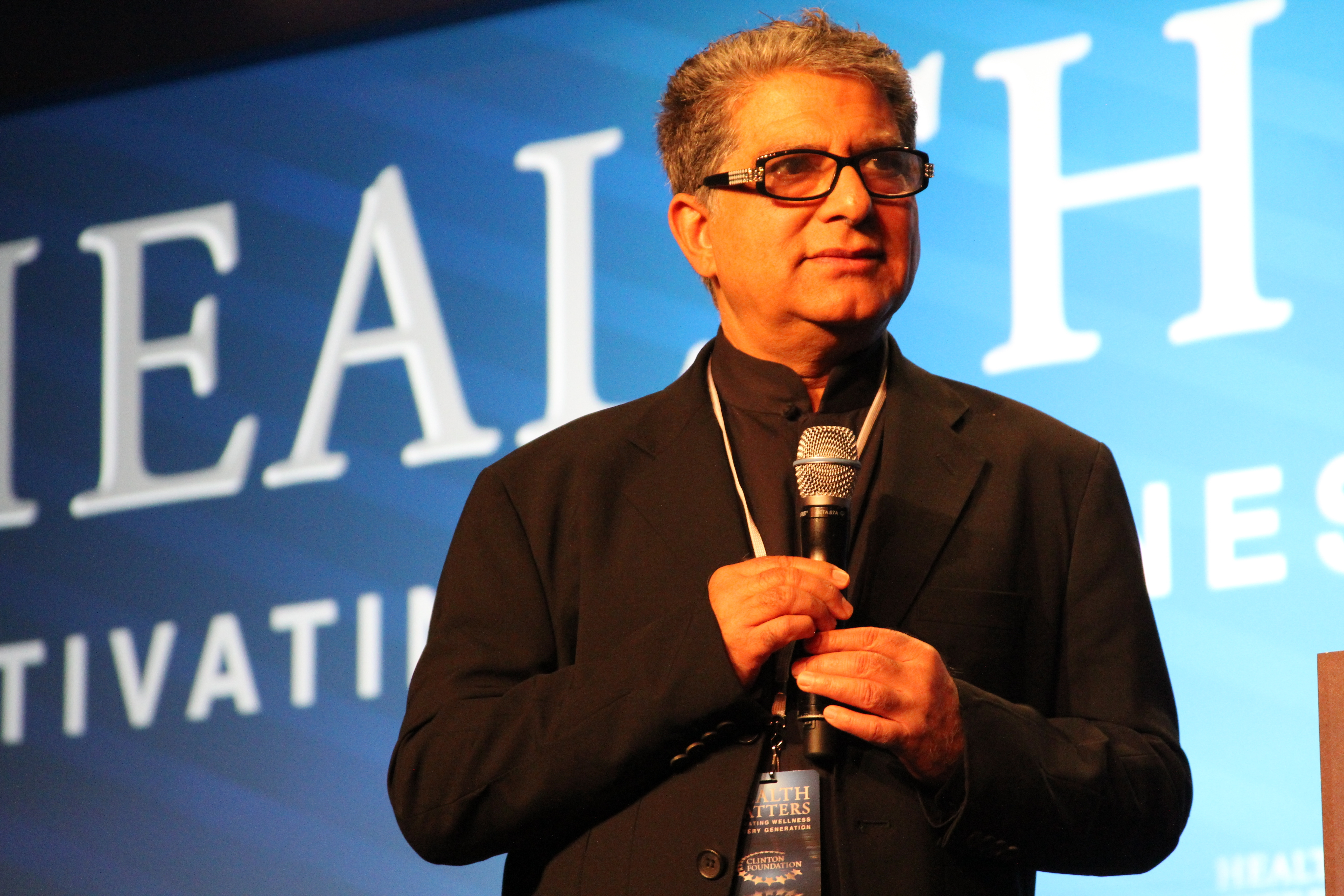 "deepak chopra Deepak chopra, in the unlikely event you have never heard of him, is a world-famous doctor who advocates for alternative medicine labeled by the new york times in 2013 as ""the controversial new age guru,"" and beloved by oprah winfrey, he has written more than 80 books, and has connections to several universities, including northwestern."