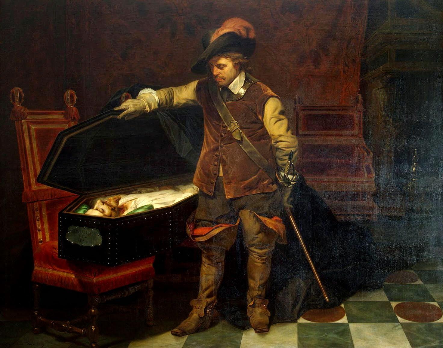 Cromwell, trumna, Karol I