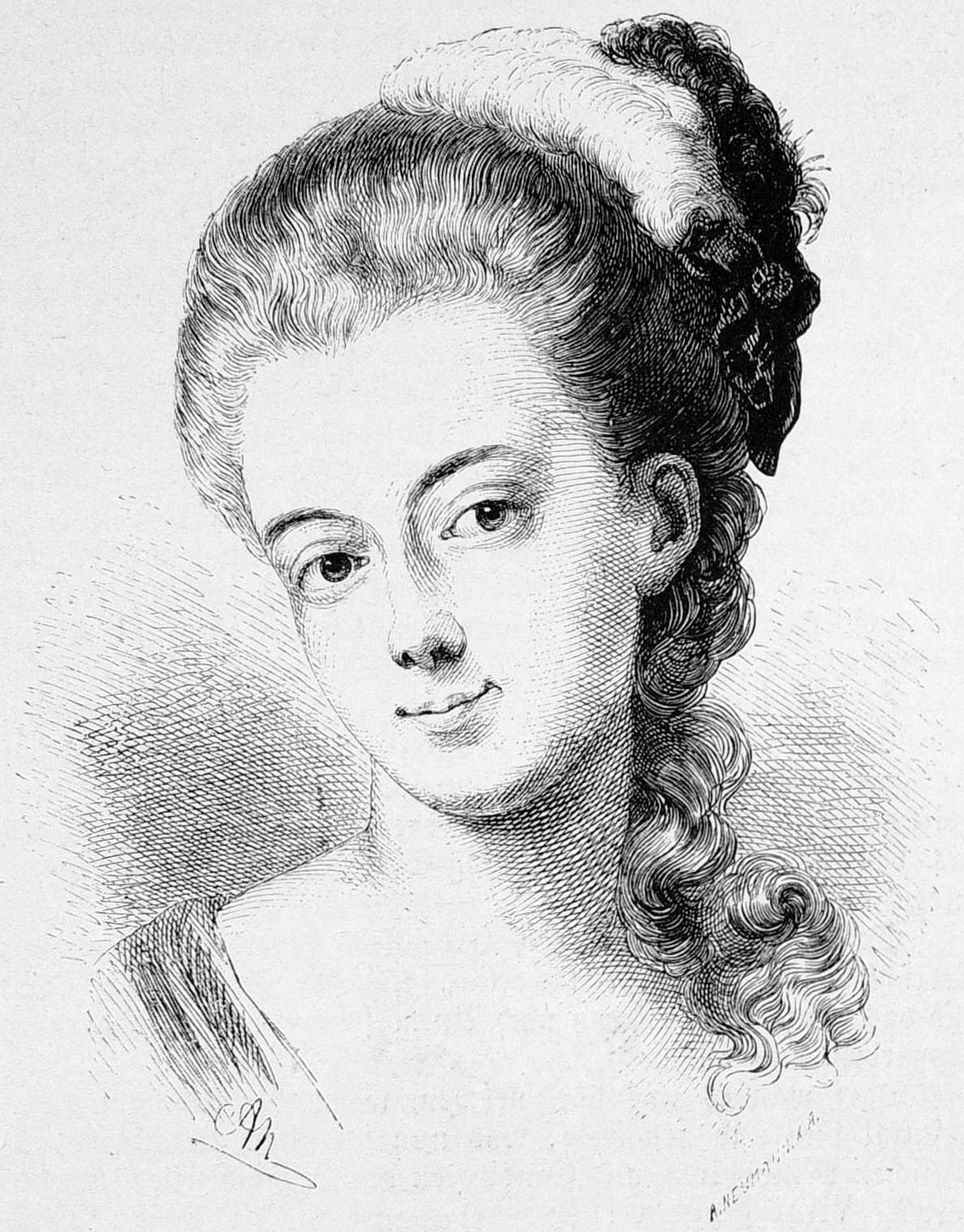 """Auguste Leonhart, sister of Bürger's wife, and the """"Molly"""" of his poetry."""