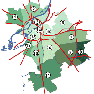Districts of Metz, France