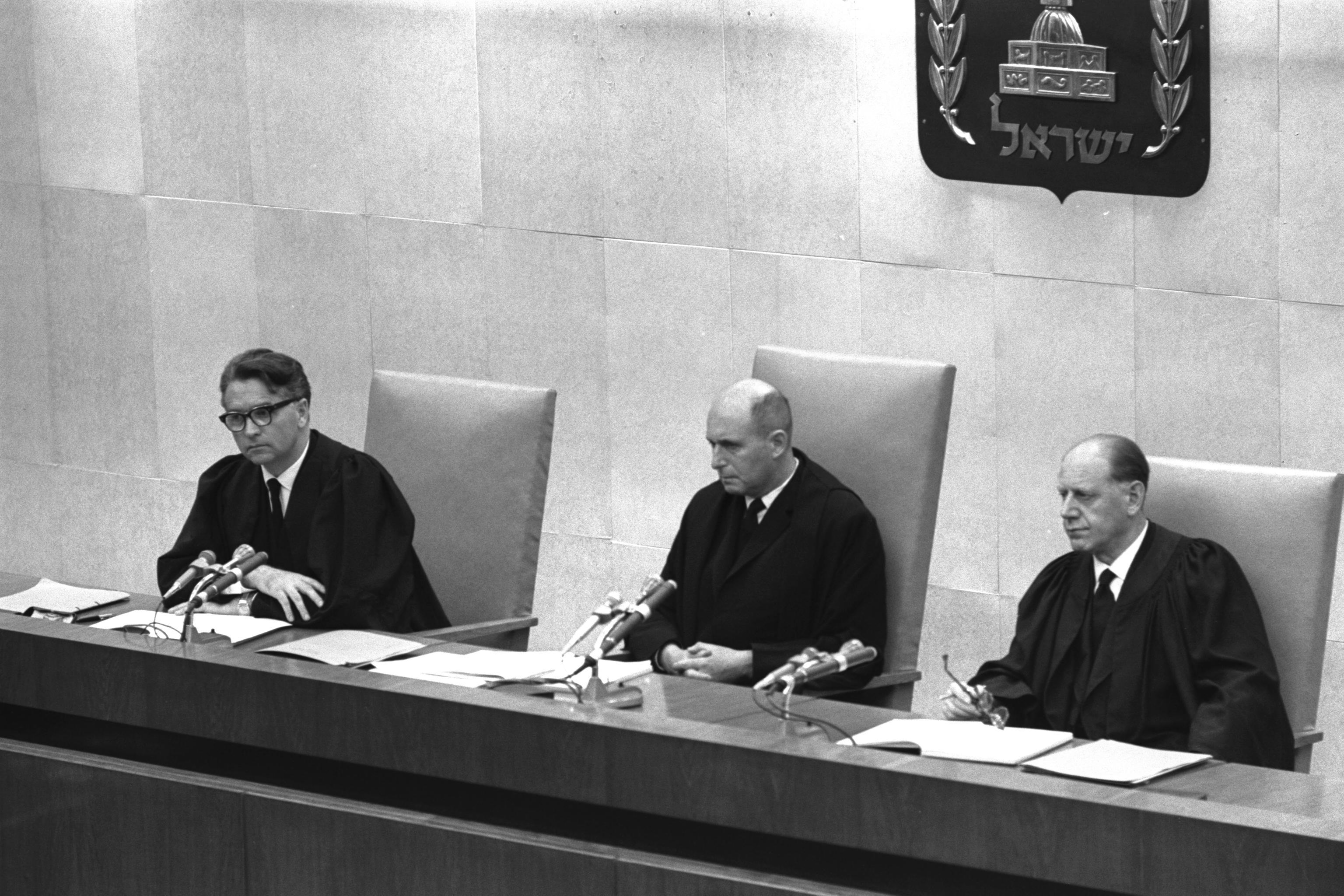 File Eichman Trial Judges Wikimedia Mons
