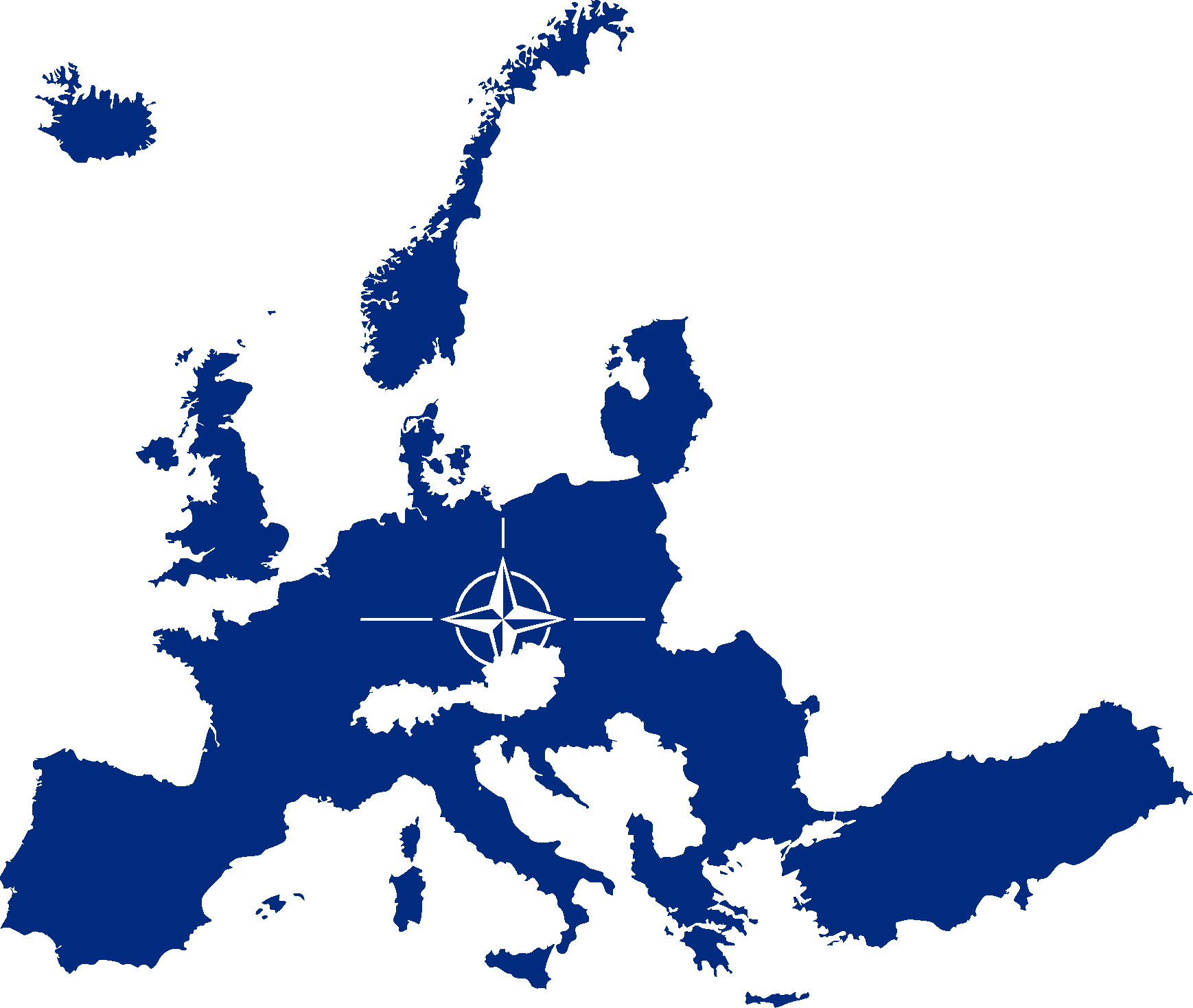fileflag map of nato countries europepng