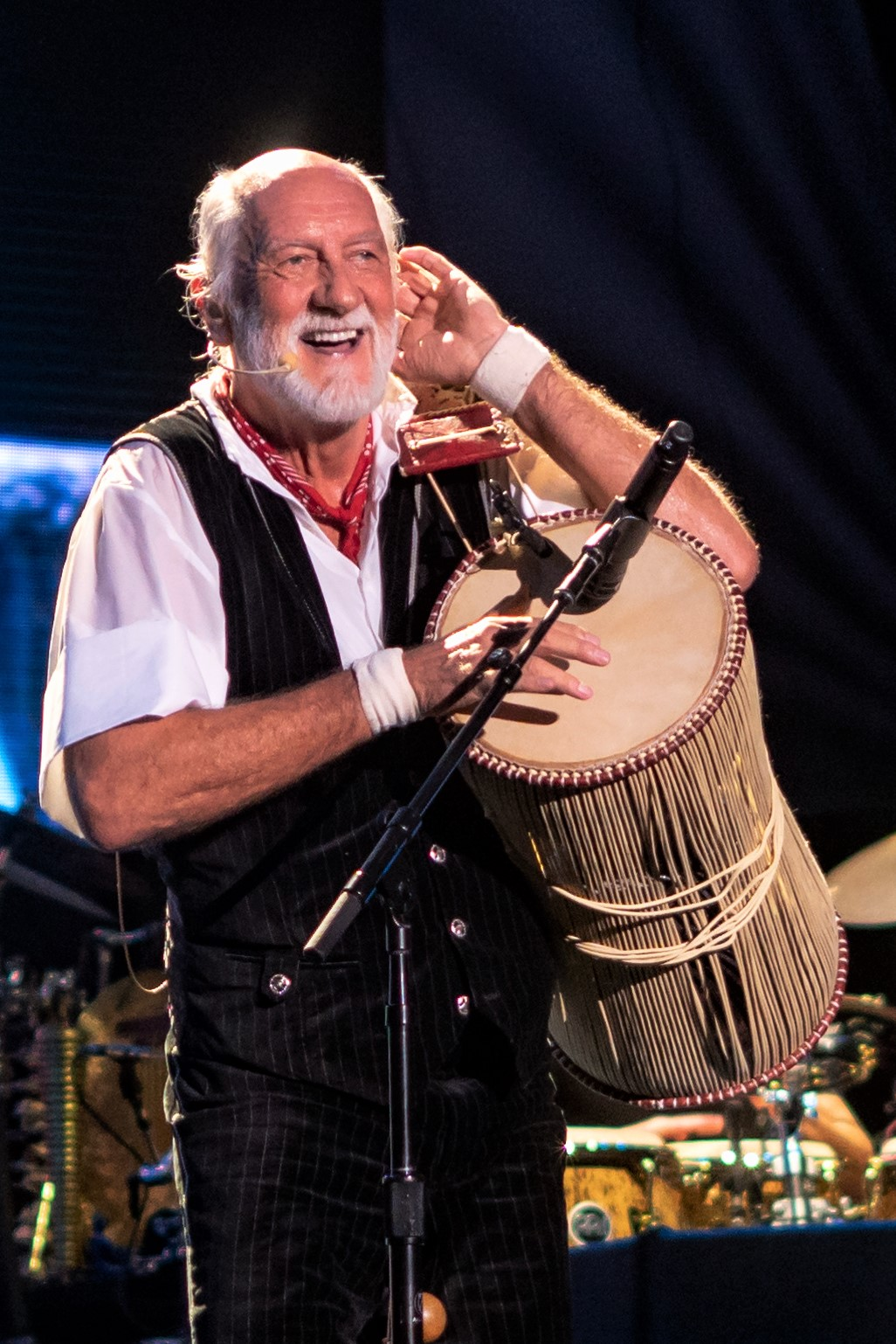 Fleetwood performing with [[Fleetwood Mac]] in 2018