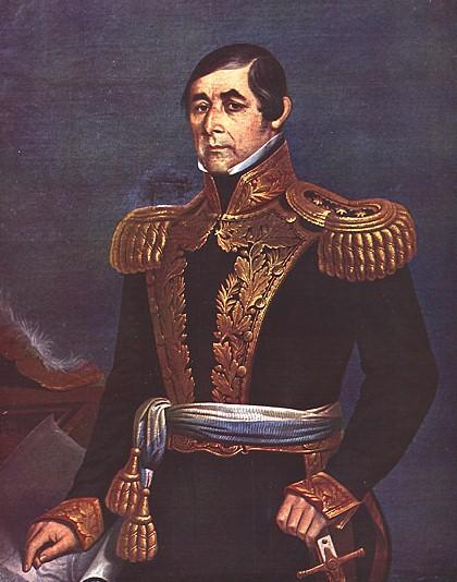 Depiction of Fructuoso Rivera