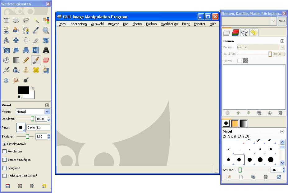File:GIMP 2 6 Programm unter Windows XP png - Wikimedia Commons