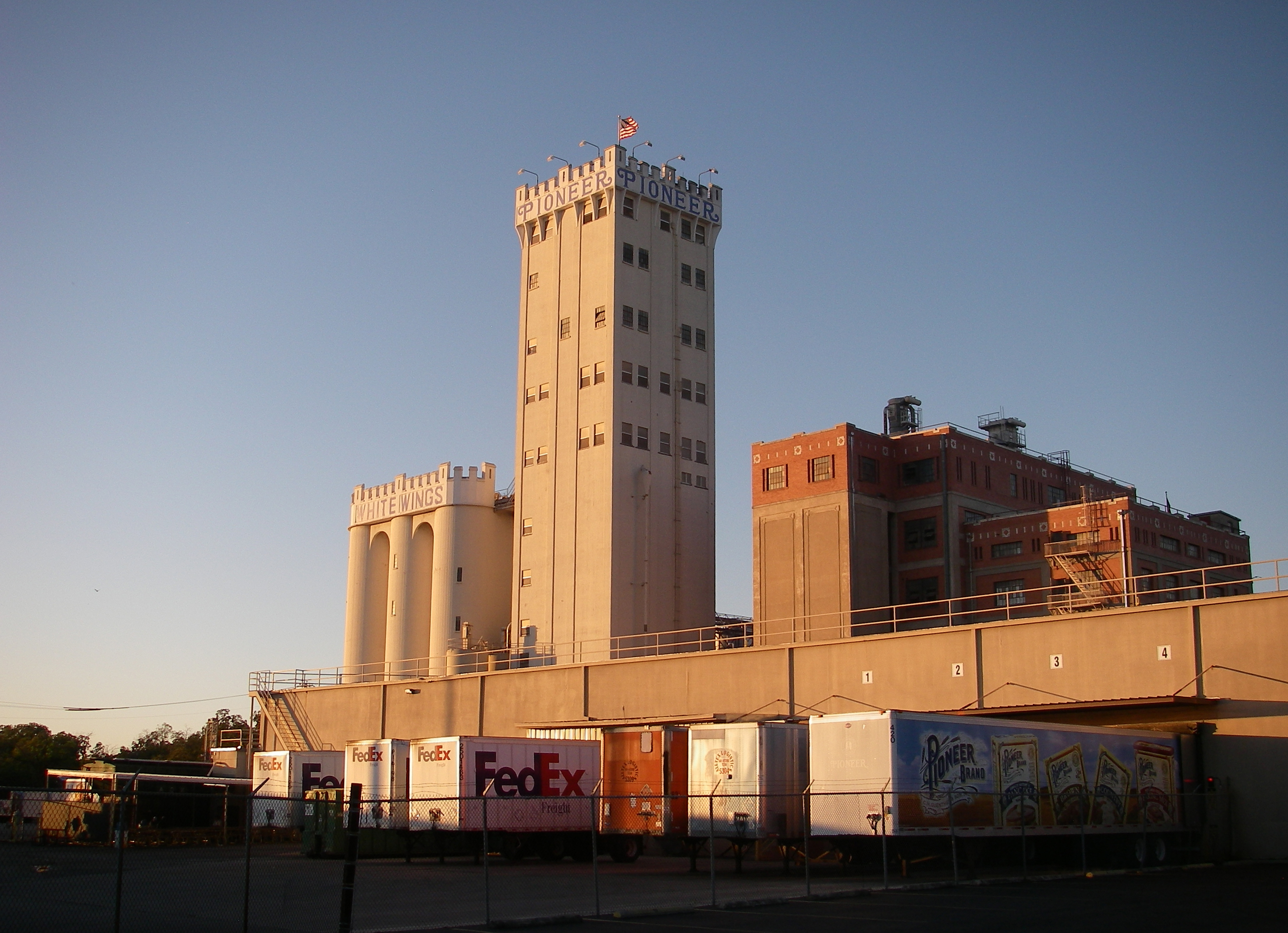 Fileguenther Sons Pioneer Brand White Wings Flour Mill San