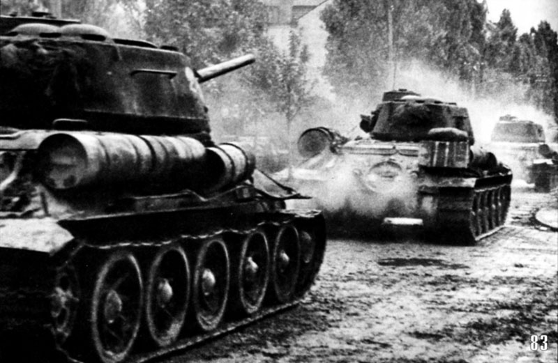 T-34/85s of the 4th Guards Mechanized Corps
