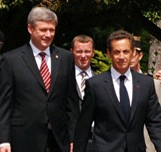 Harper adn Sarkozy