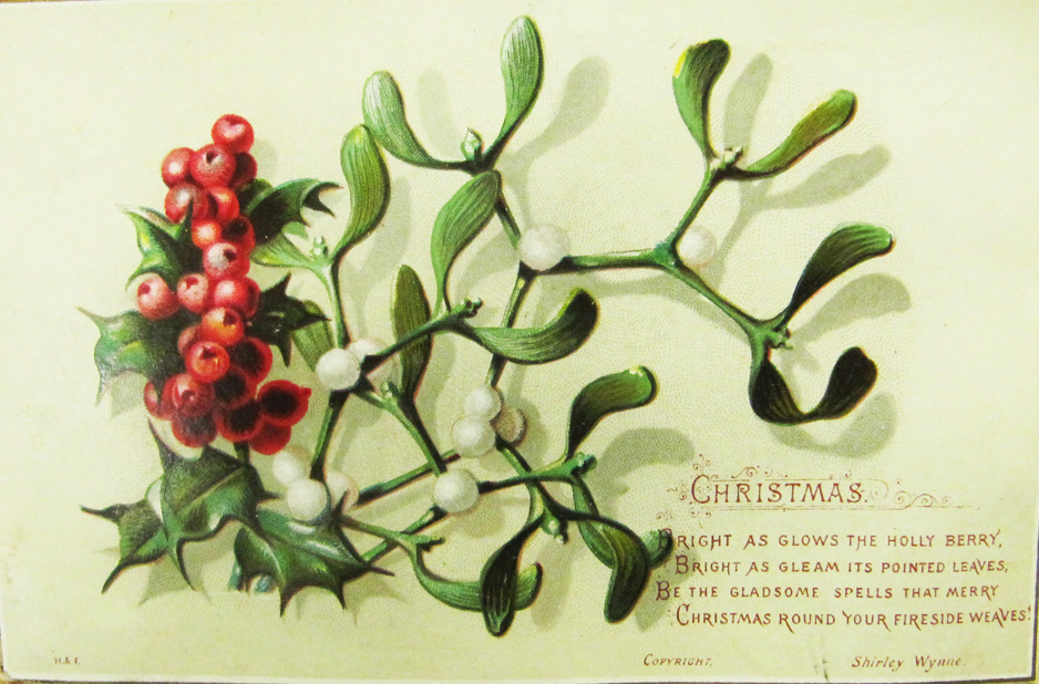Irish Christmas card, ca. 1880