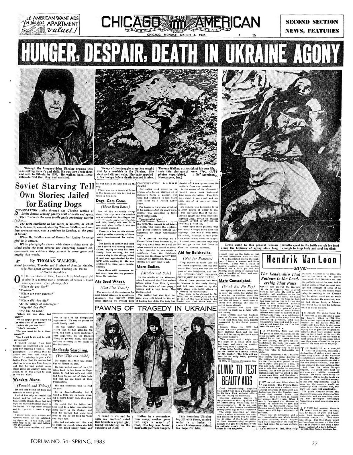 the ukrainian famine genocide Bibliography surviving  ukrainian genocide famine foundaiton - usa - history of the ukrainian genocide famine of 1932-1933 ukrainian genocide famine.