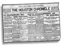 First edition of the Houston Chronicle newspap...