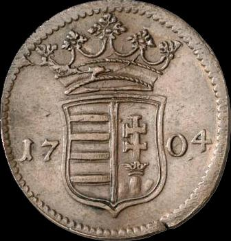 Hun Rakoczi X Poltura 1704 Huszar 1535 obverse