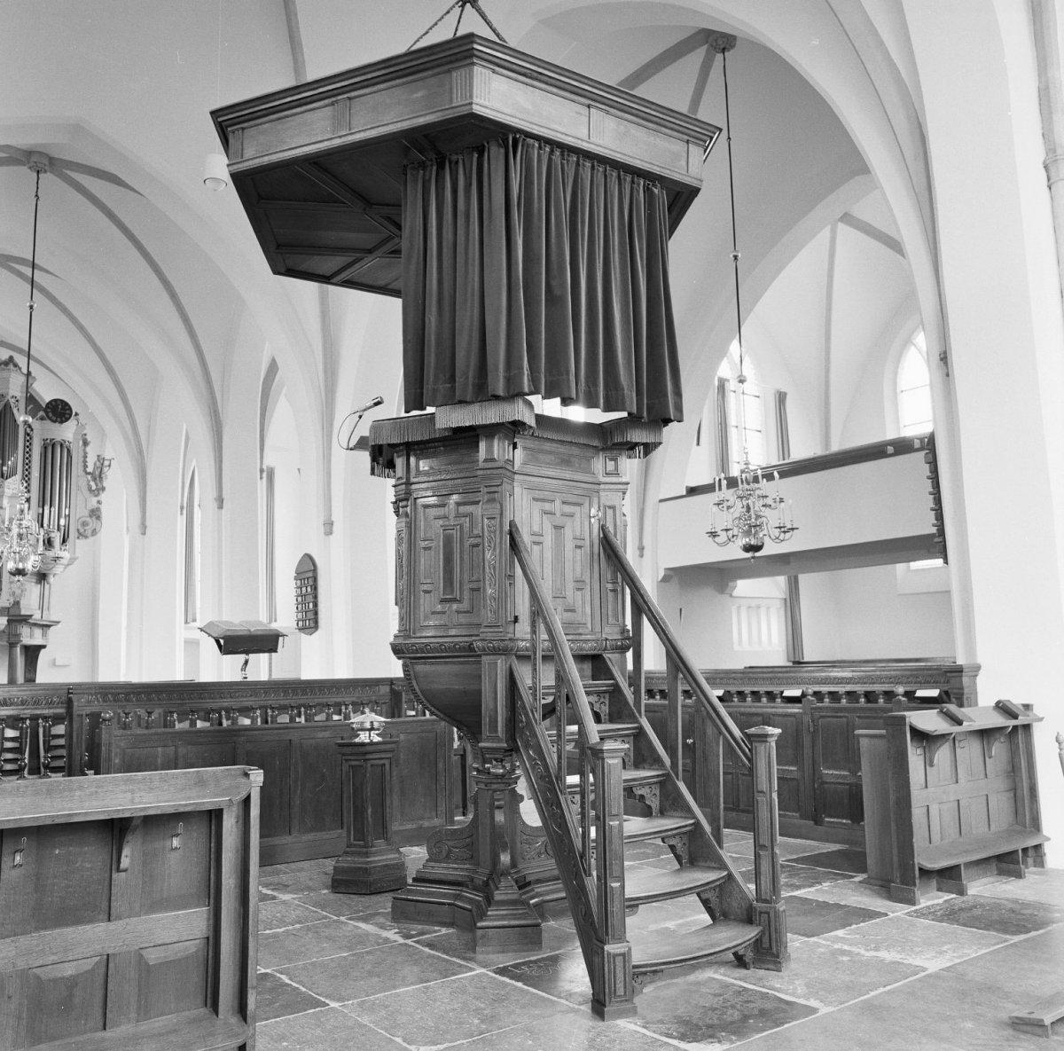 File interieur overzicht naar het noordwesten preekstoel for Interieur 607