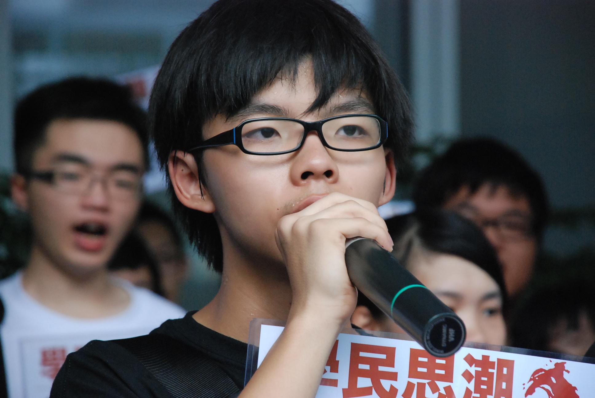 Resultado de imagen para Fotos de Joshua Wong