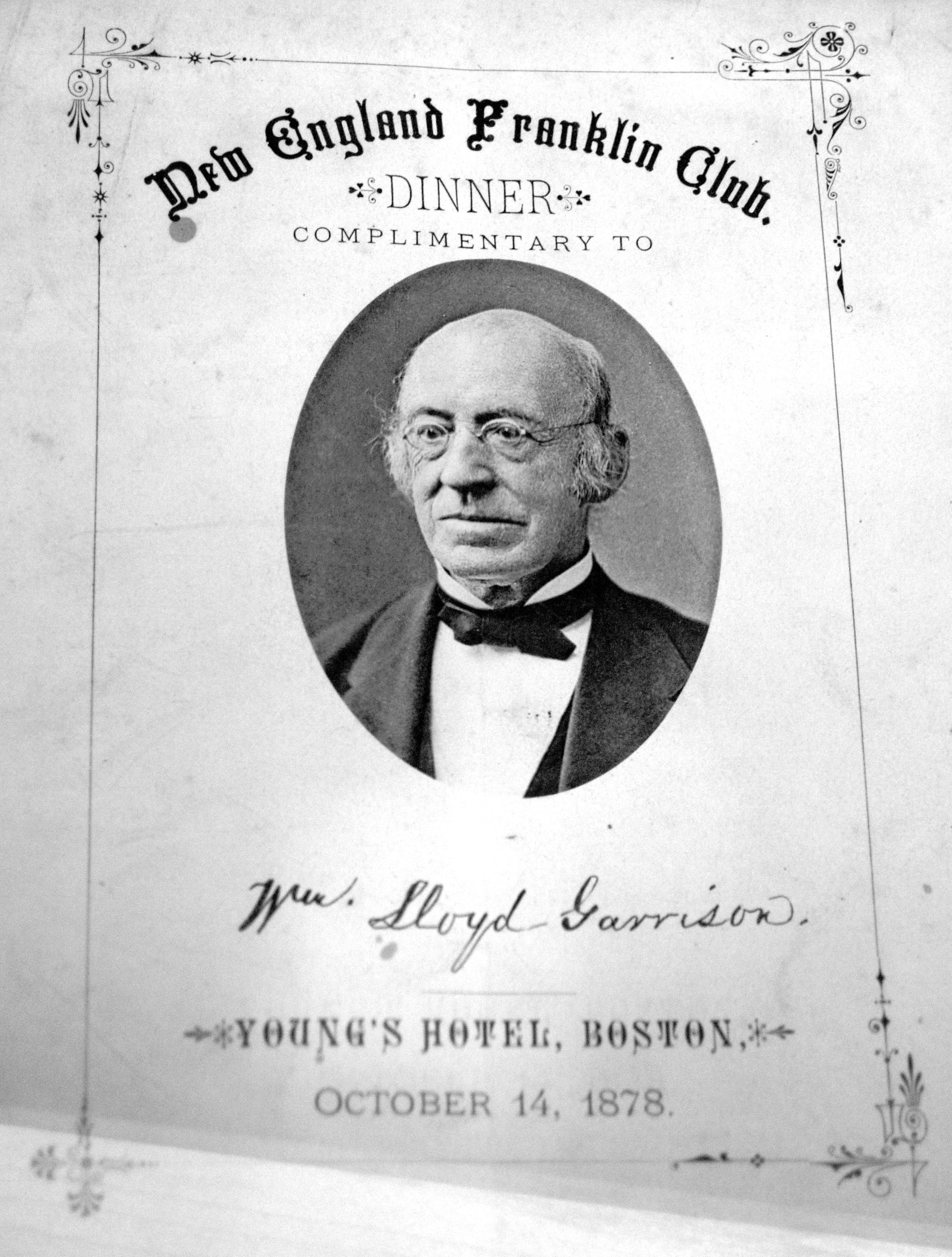 "william loyd garrison As early as 1842, william lloyd garrison advanced the idea of disunion, arguing that the constitution was ""a covenant with death"" distressed by calhoun's signing of the annexation treaty for texas, he prophesied that civil war was inevitable though plagued by illness and death in his."