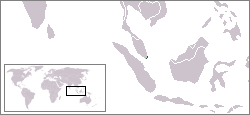 Map showing Singapore.
