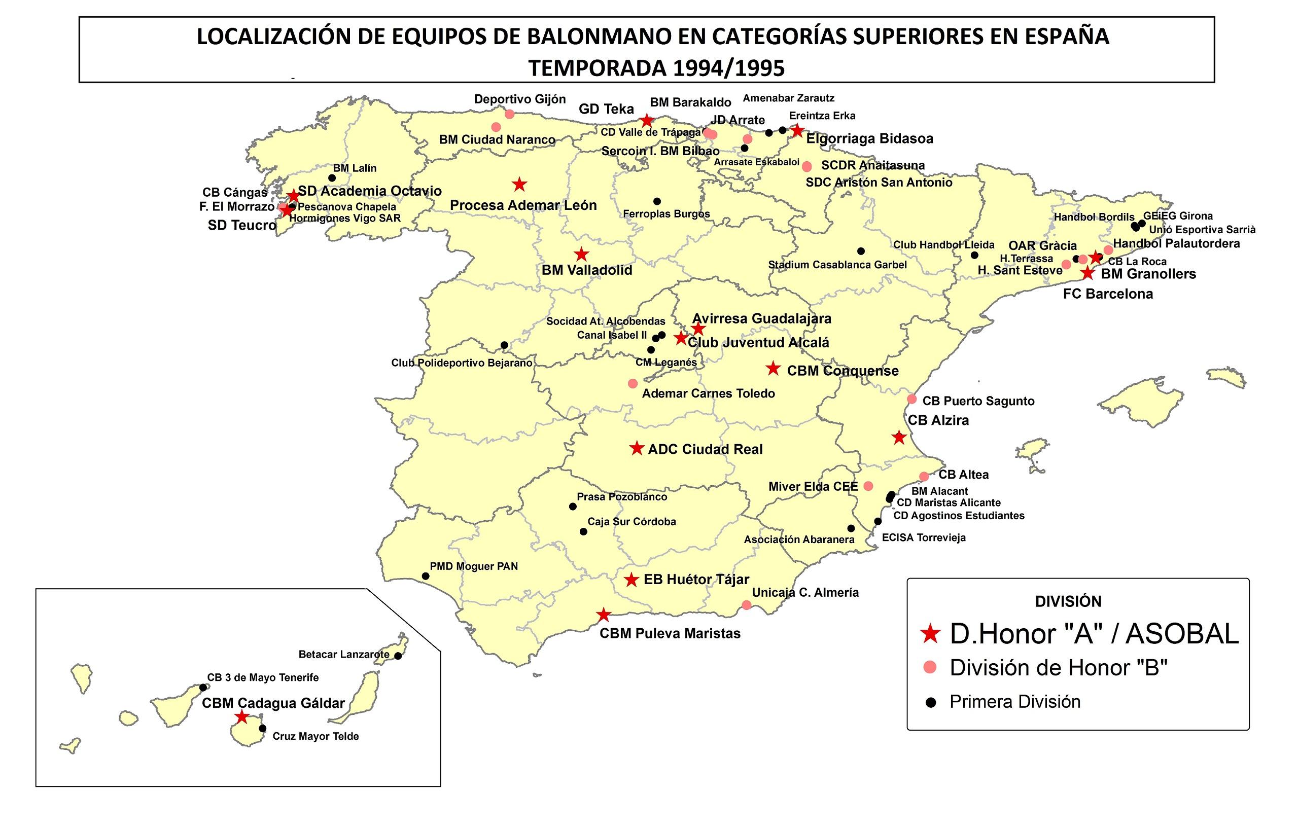 File Mapa Divisiones Balonmano Espana 1995 Jpg Wikimedia Commons