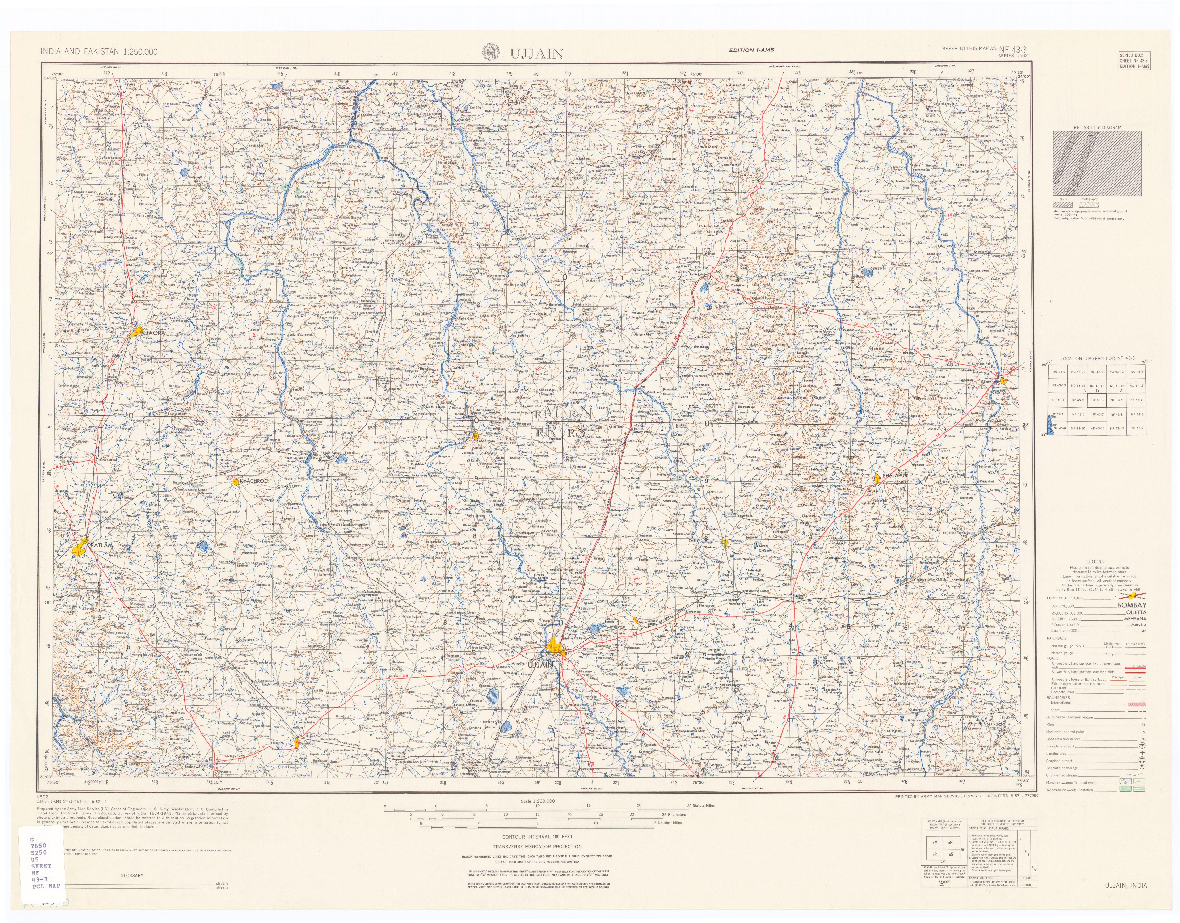 Ujjain India Map File Map India And Pakistan