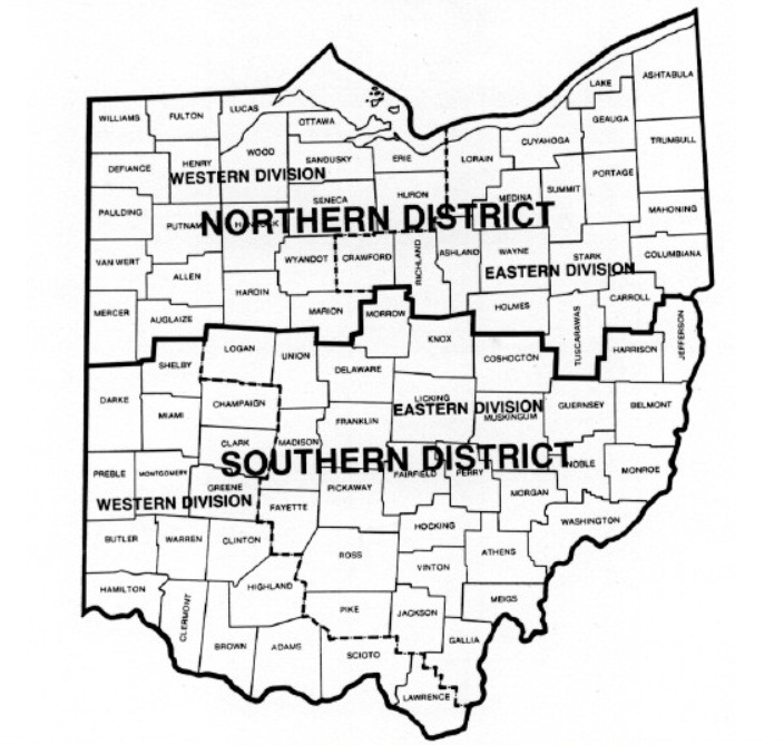 FileMap Of Ohio Federal Court Districtsjpg Wikimedia Commons - Us map indiana ohio