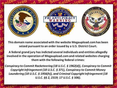 Bannière de fermeture des sites internet condamnés