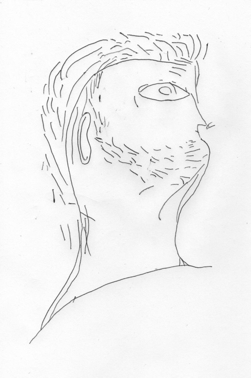 Unknown artist, Graffiti portrait of Nero, c. 1st century.