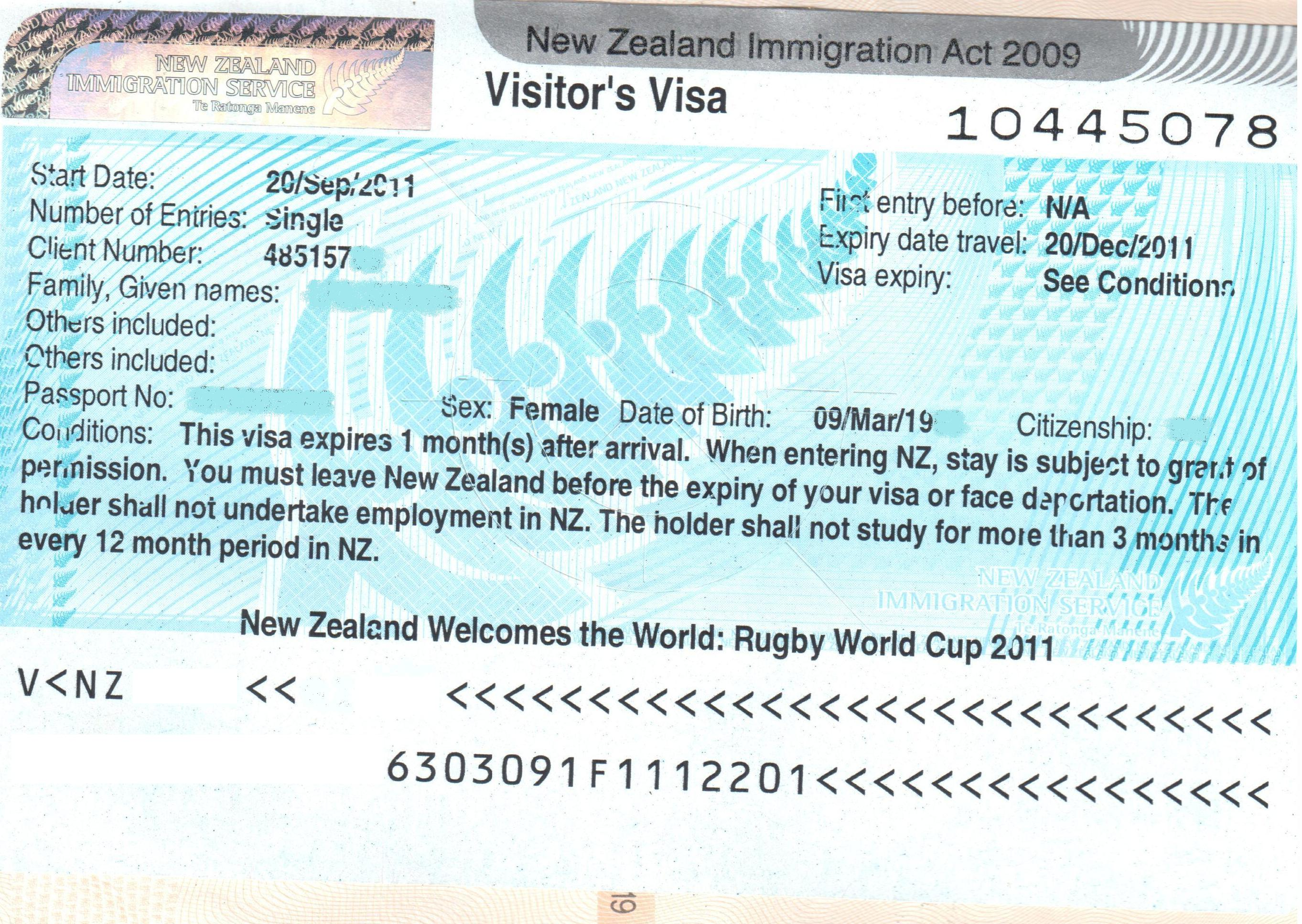 Visa Policy Of New Zealand Wikiwand