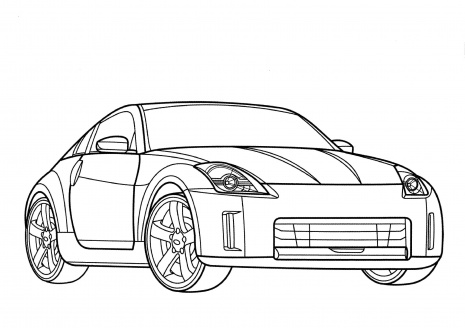 Custom Nissan Gt R Coloring Page Sketch Templates on ferrari cars coloring sheets