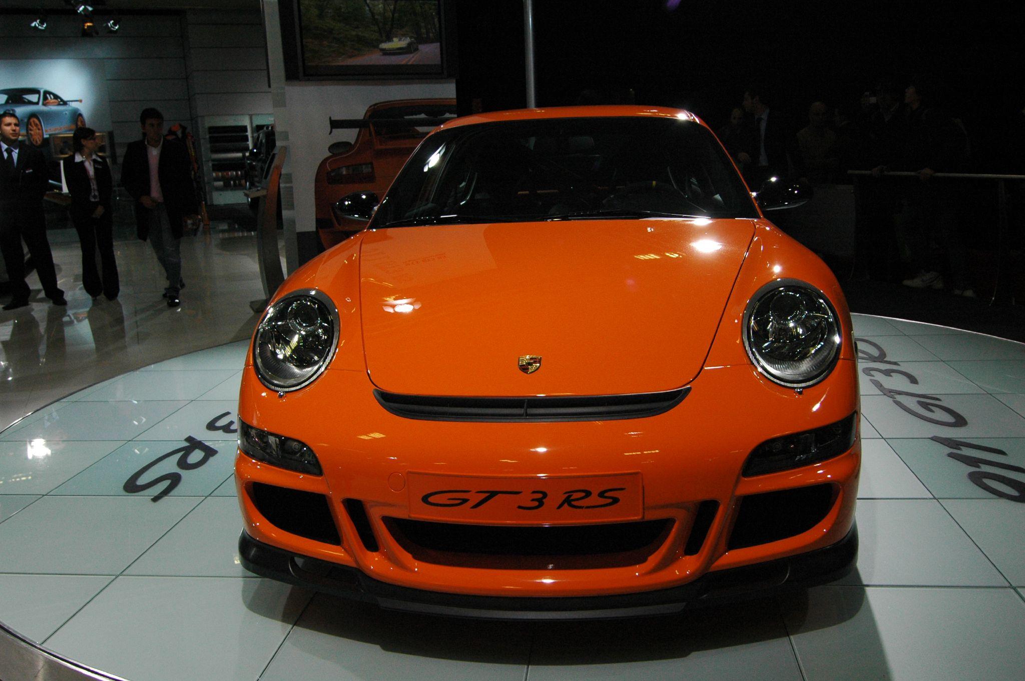 file orange porsche 911 gt3 rs type 997 front jpg. Black Bedroom Furniture Sets. Home Design Ideas