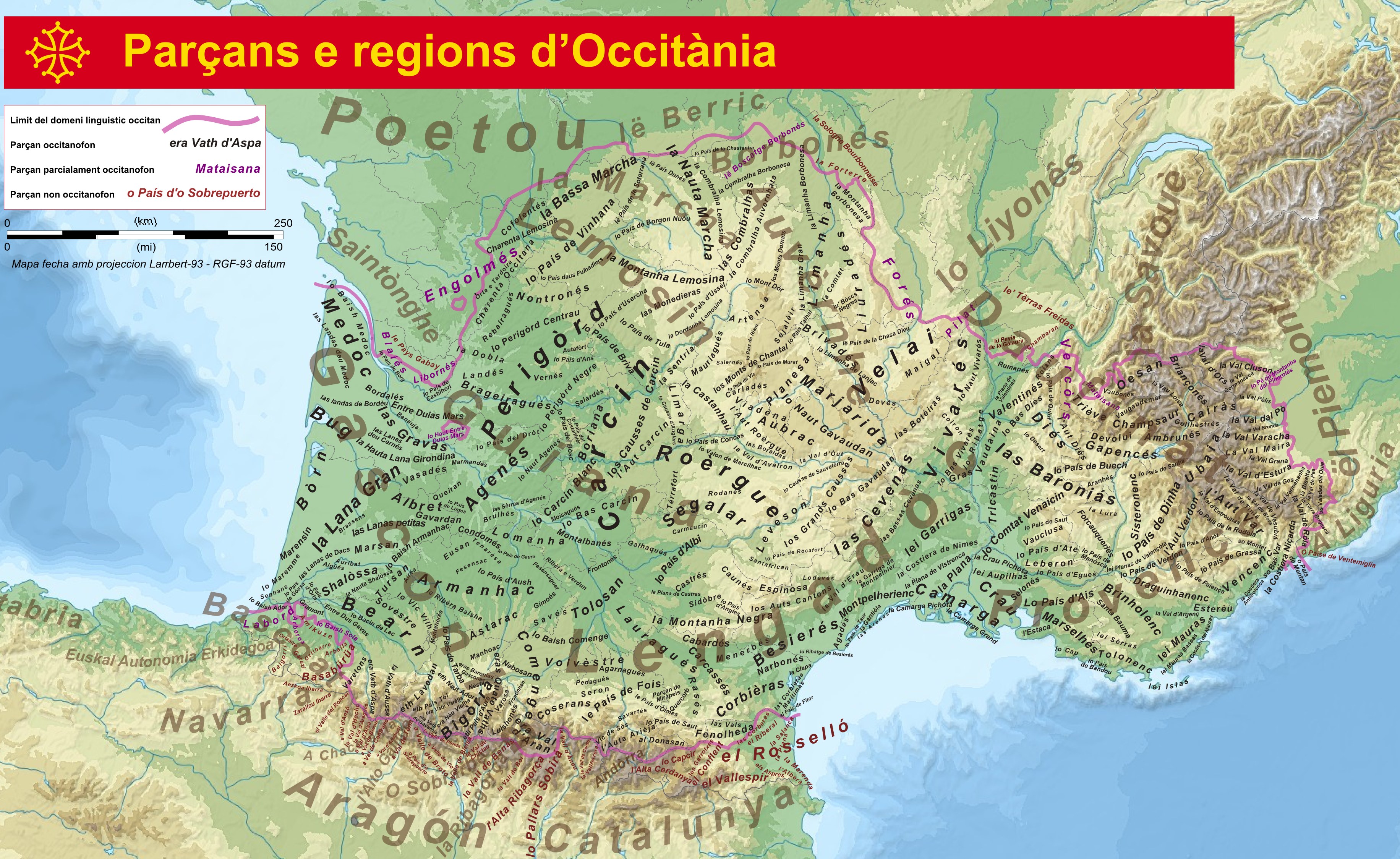 Map Of South Of France Regions.Ultracomplete Map Of The Regions Of Occitania Southern France