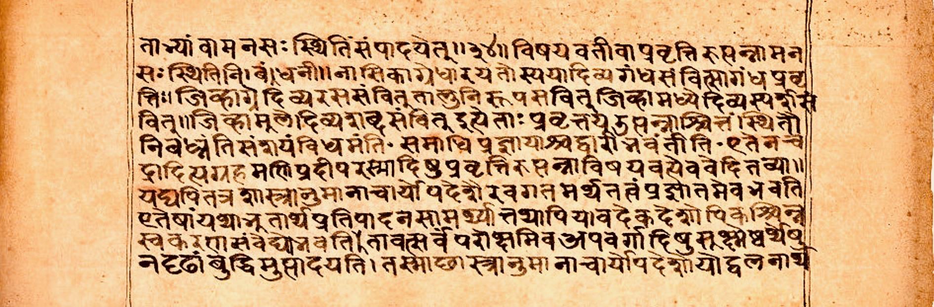 File Patanjali S Yogabhasya Sanskrit Devanagari Script Sample Page F13r Jpg Wikimedia Commons