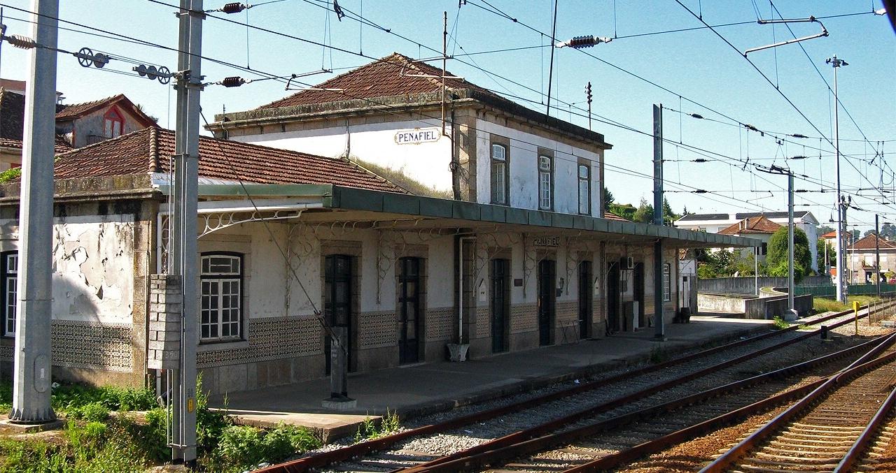 Depiction of Ferrocarril de Penafiel a Lixa y Entre-os-Rios