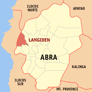 Mapa na Abra ya nanengneng so location na Langiden