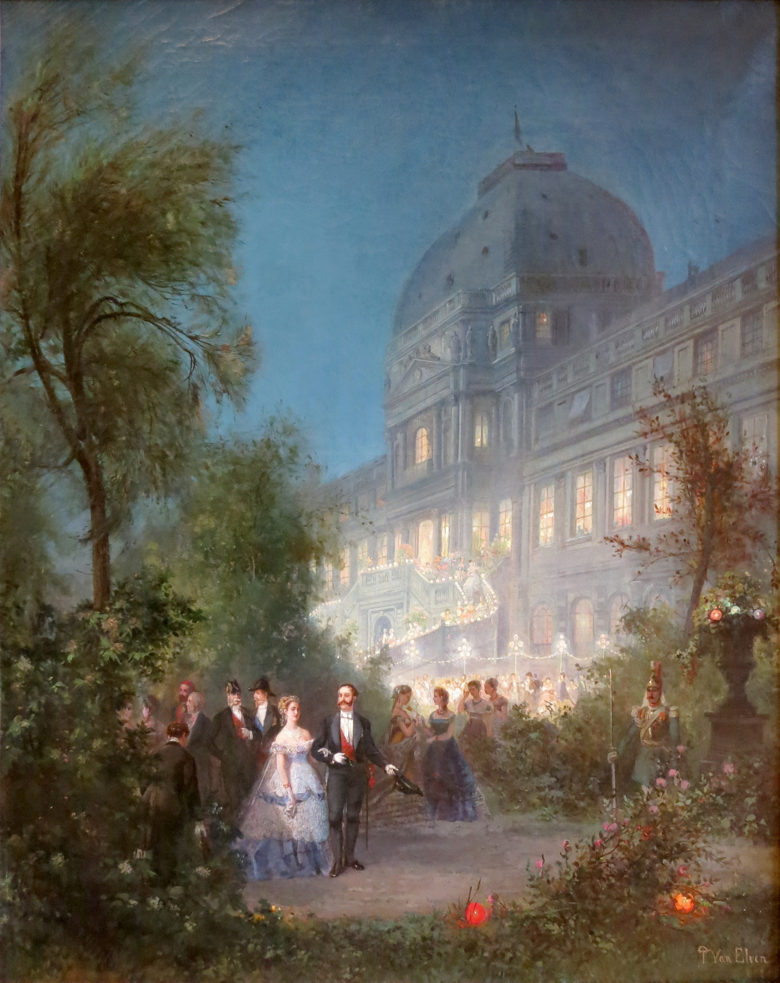 Pierre Tetar van Elven (1828-1908): The Palace and the Tuileries Gardens.