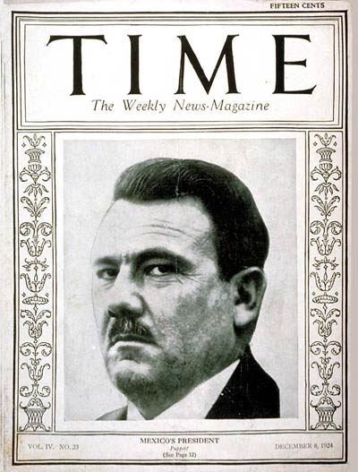 Plutarco Elias Calles on the cover of Time magazine in 1924 Plutarco Calles-TIME-1924.jpg
