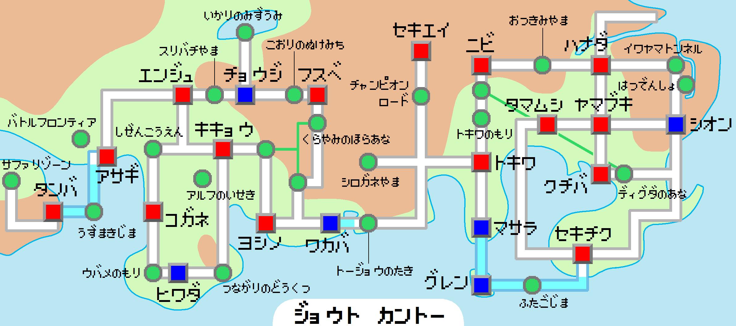 パズル 地図パズル : Pokemon Johto Map