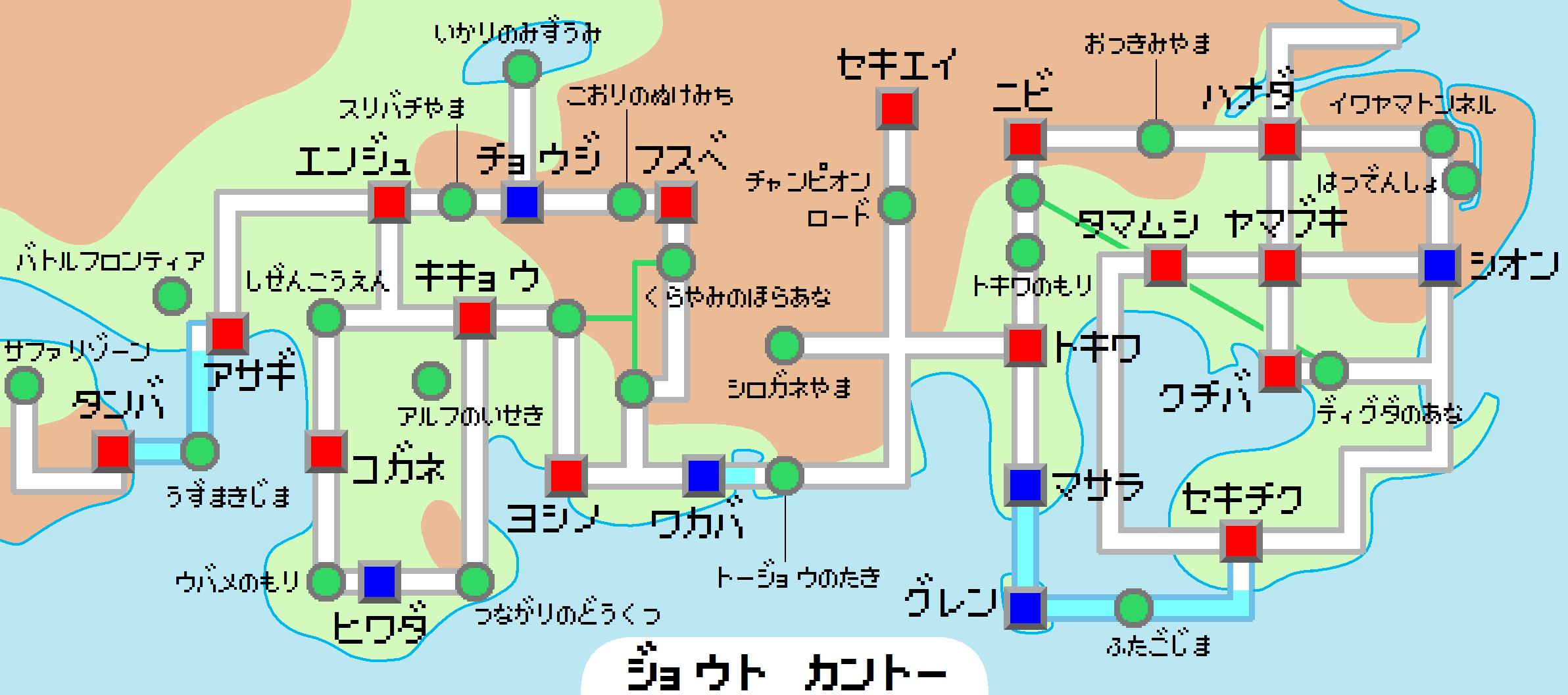 Pokemon Johto Map