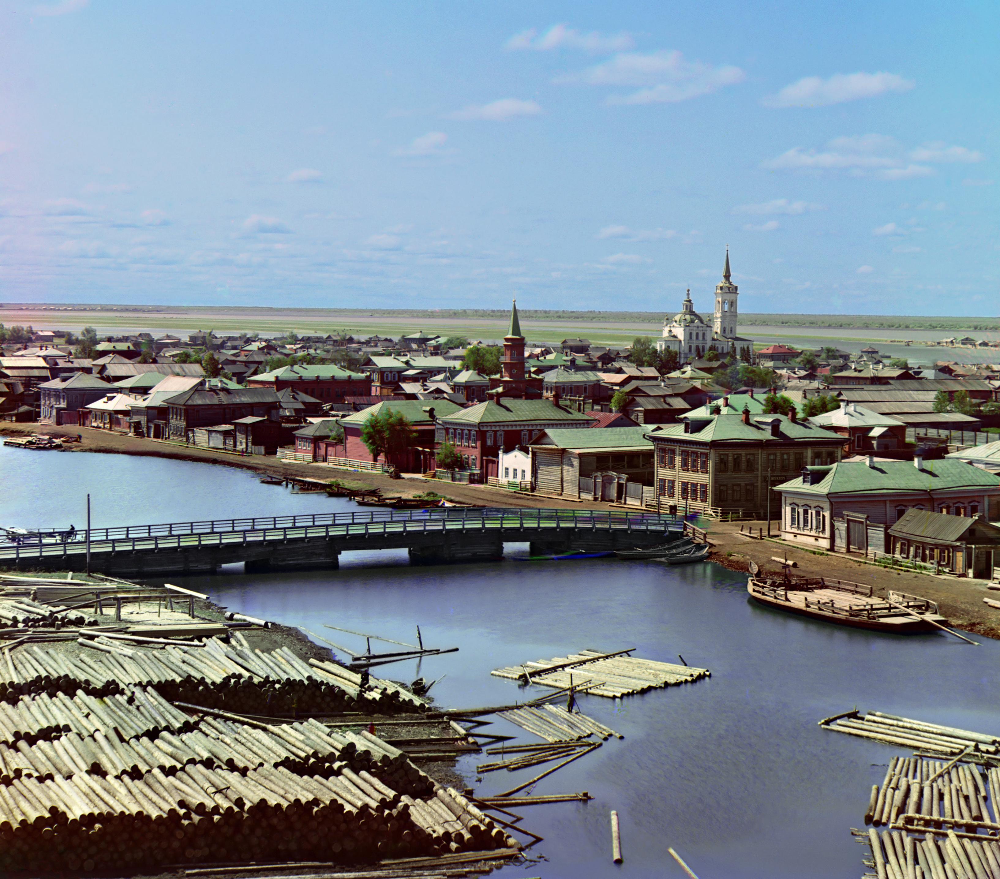 Вид на татарскую слободу Тобольска. Фотография С.М. Прокудина-Горского 1912 г. Википедия