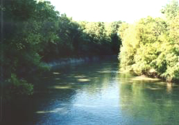 LAnguille River tributary of the St. Francis River in Arkansas, USA