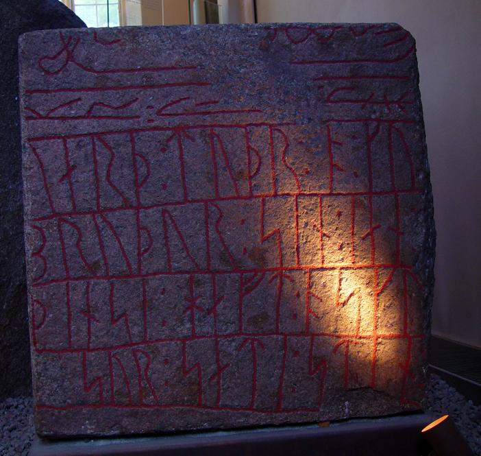 Runestone from S%C3%B8nder Kirkby, Falster, Denmark.jpg