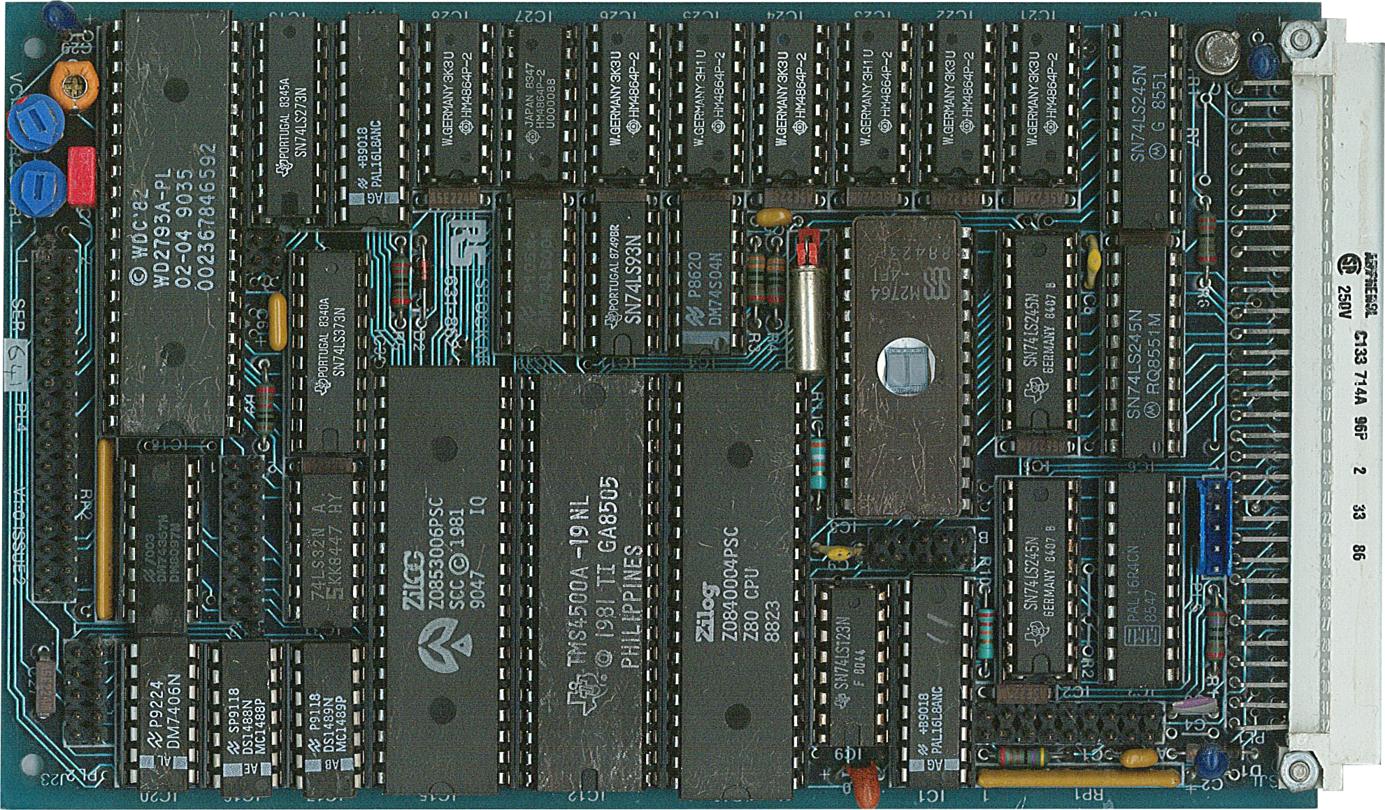 File:STEbus Z80 and FDC, with 64K DRAM, and SCC on 100x160mm