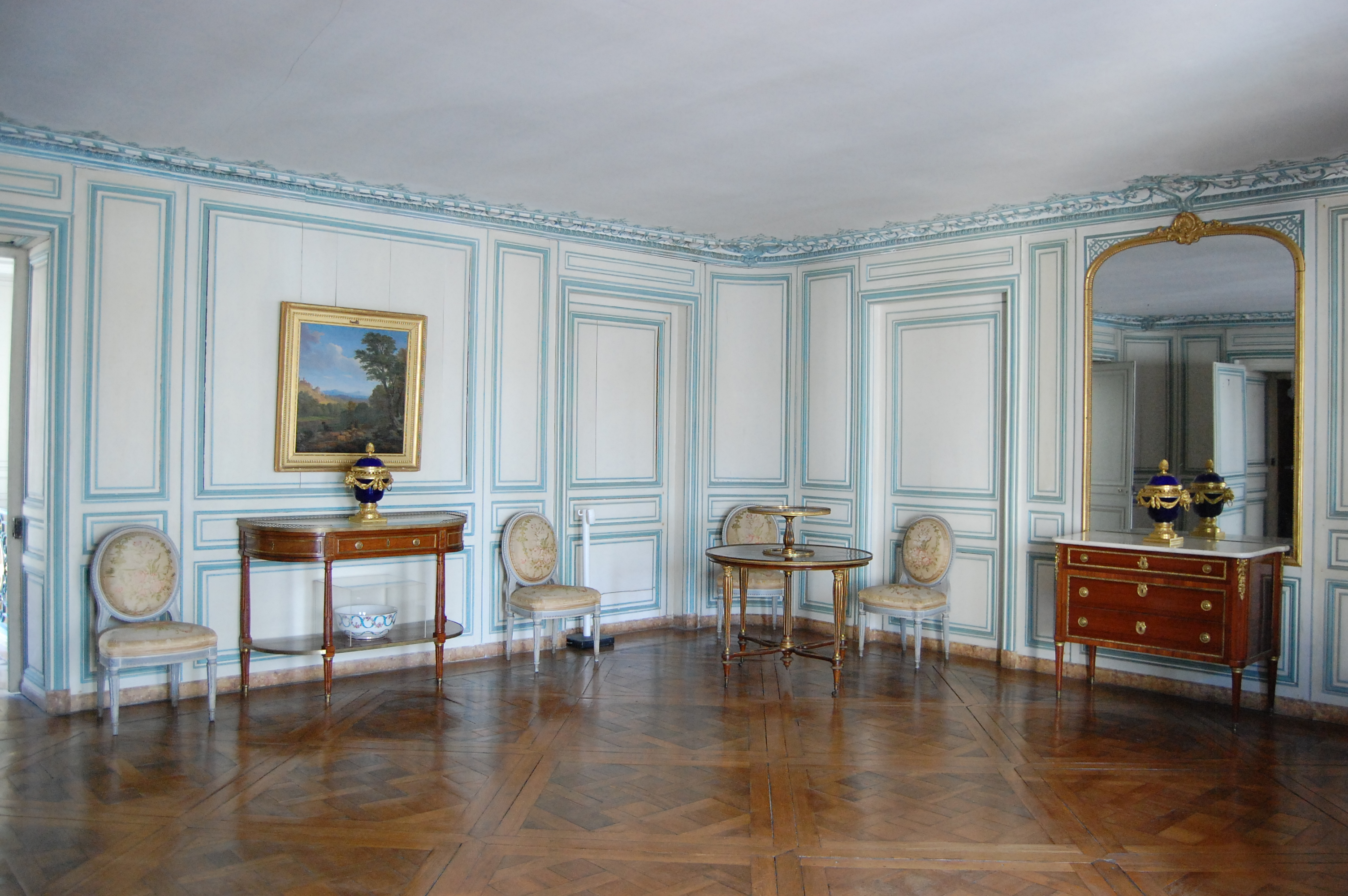 Second tage aile centrale appartement de madame du for Chambre louis xvi versailles