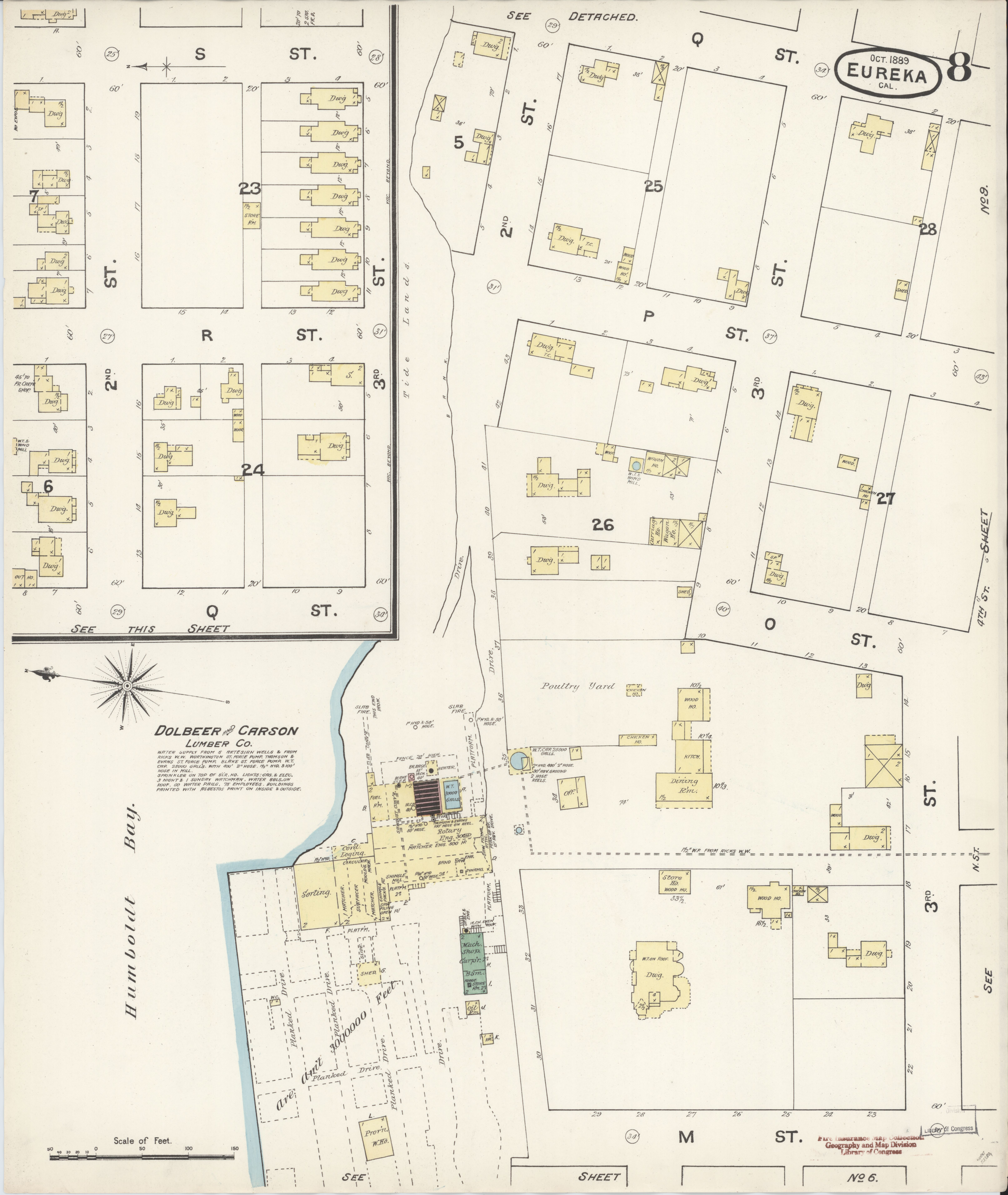 File Sanborn Fire Insurance Map From Eureka Humboldt County