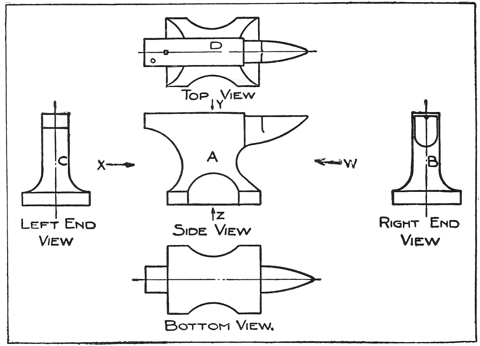 File Smd D016 Mechanical Drawing Of Anvil Png