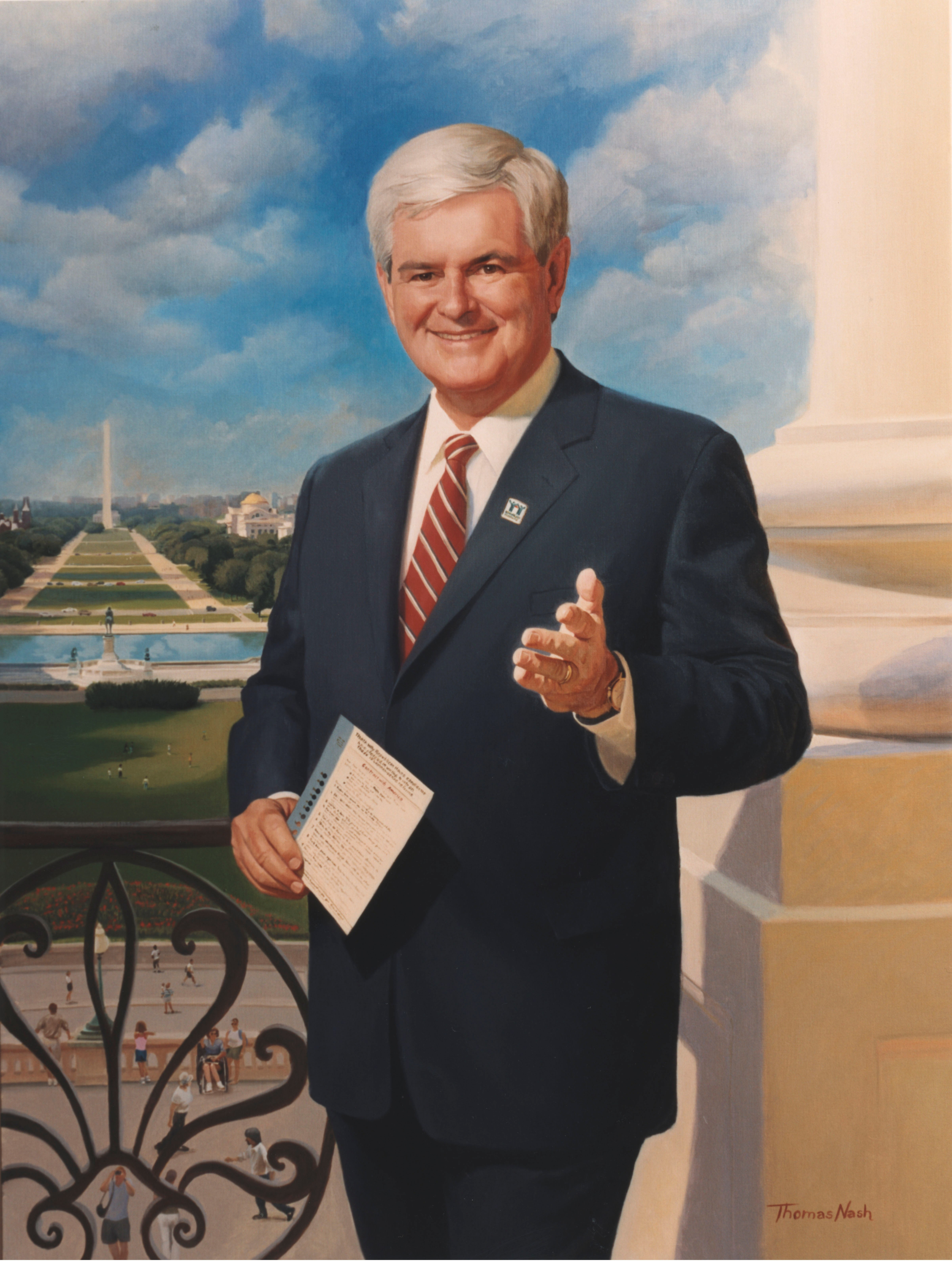 Gingrich's official portrait as Speaker
