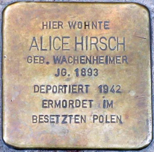 Stolpersteine Alzey Alice Hirsch.jpg