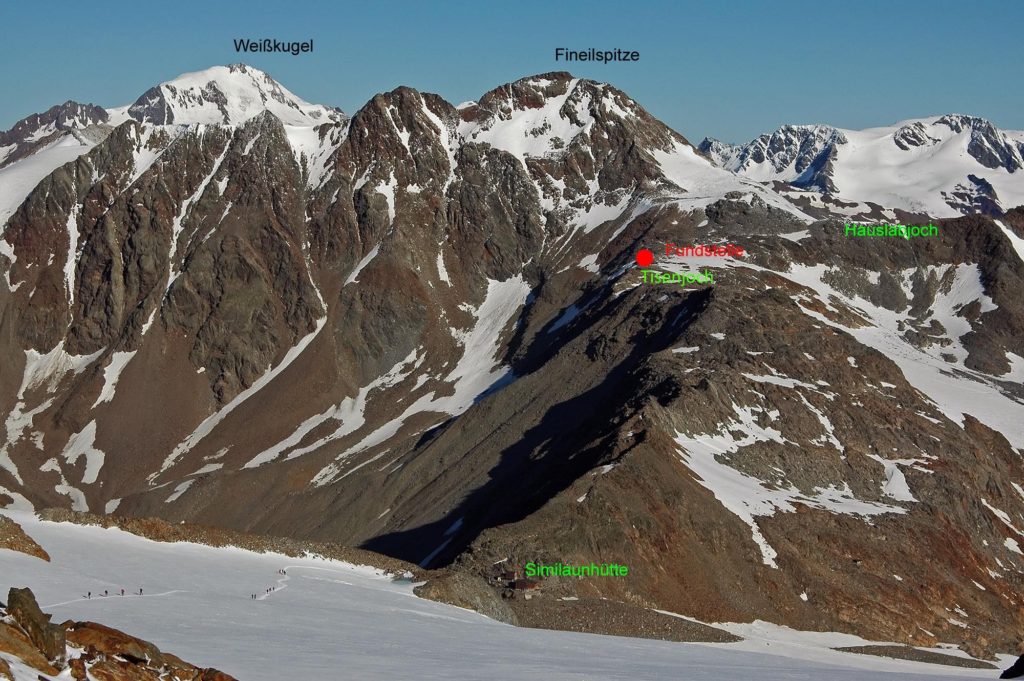 Tisenjoch dans les Alpes